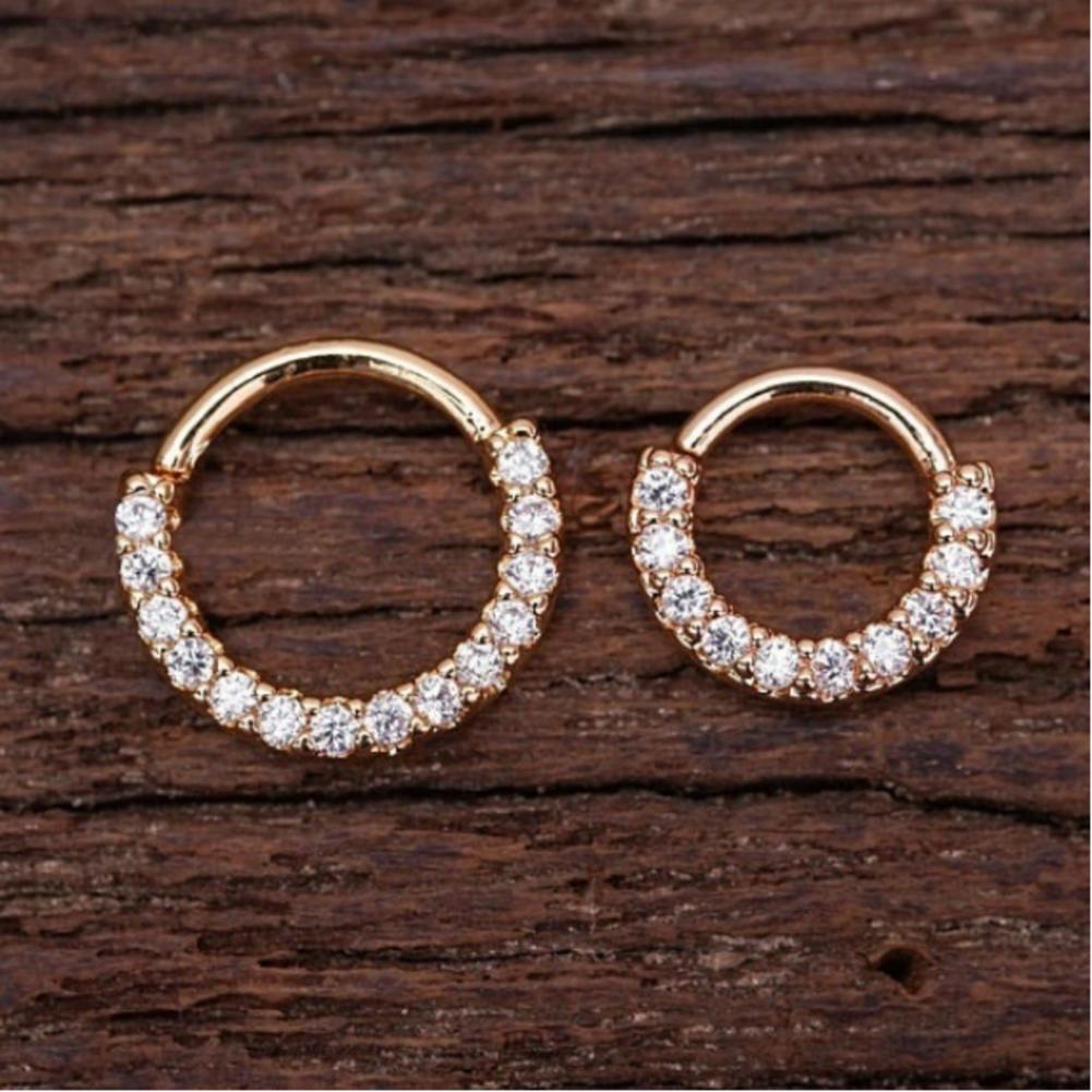Piercing Hoop Earring Small Hoop Nose Septum Ring Piercing Silver Ear Bone Ring Gold_6mm