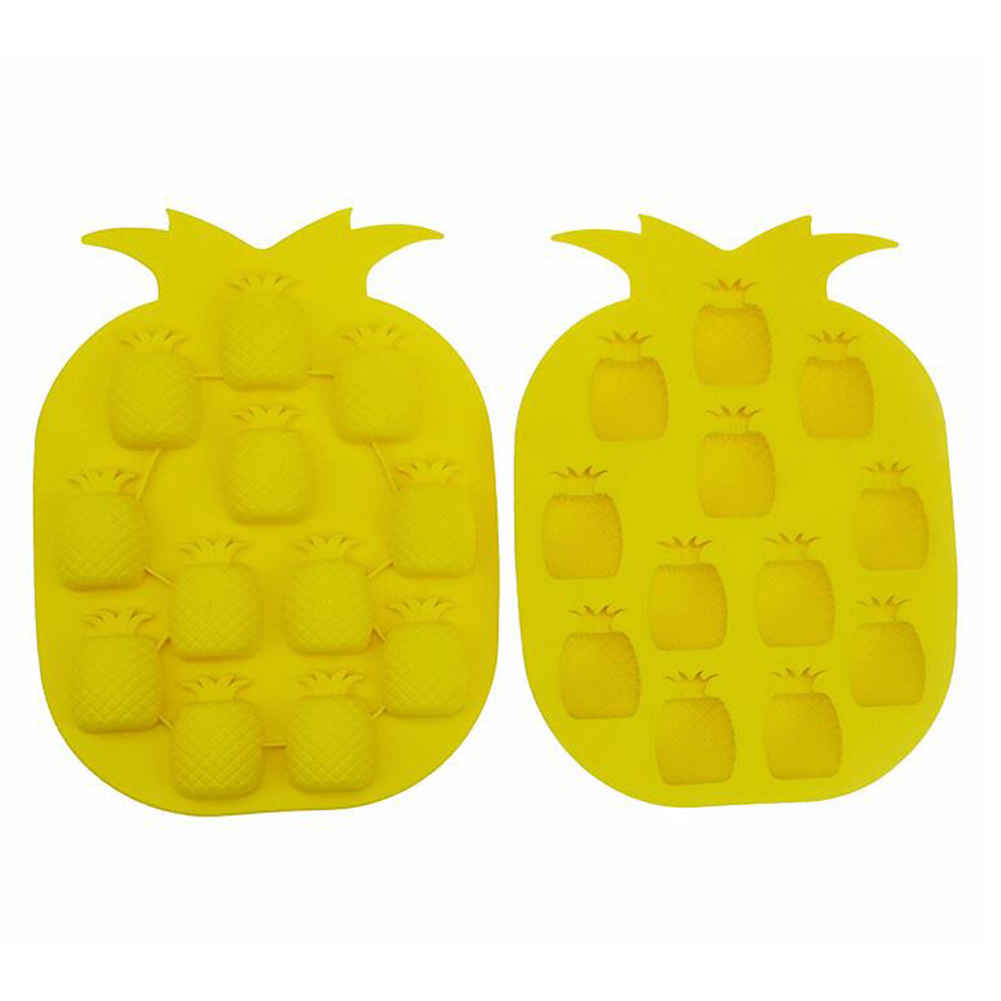 Silicone Ice Mold 12 Even Pineapple Shape DIY Baking Mould Tool for Jelly Pudding Chocolate Cake random