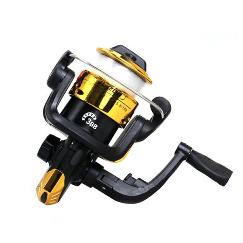Spinning Reel 3 Axis 5.2 Left Right Hand Swap High Speed Fishing Reel with 40M Fishing Line  yellow