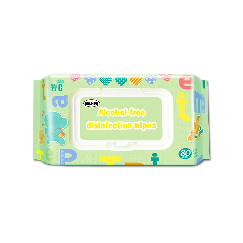 80pcs Disposable Effective Cleaning Bacteriostatic Wipes Wet Tissue Portable 80PCS