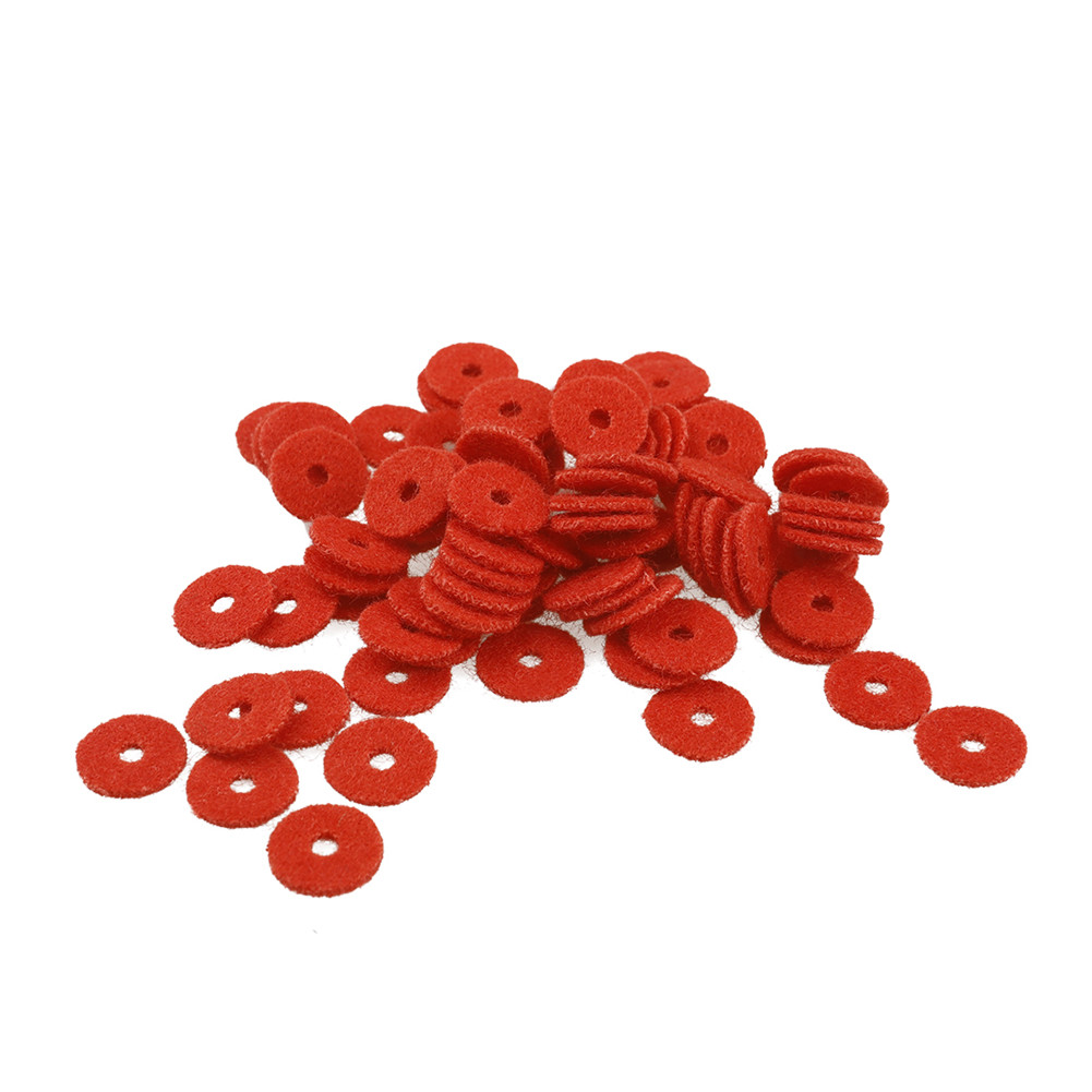 90pcs Piano Accessories Tuning Tools Wool Felt Ring Pad Woollen Washers red
