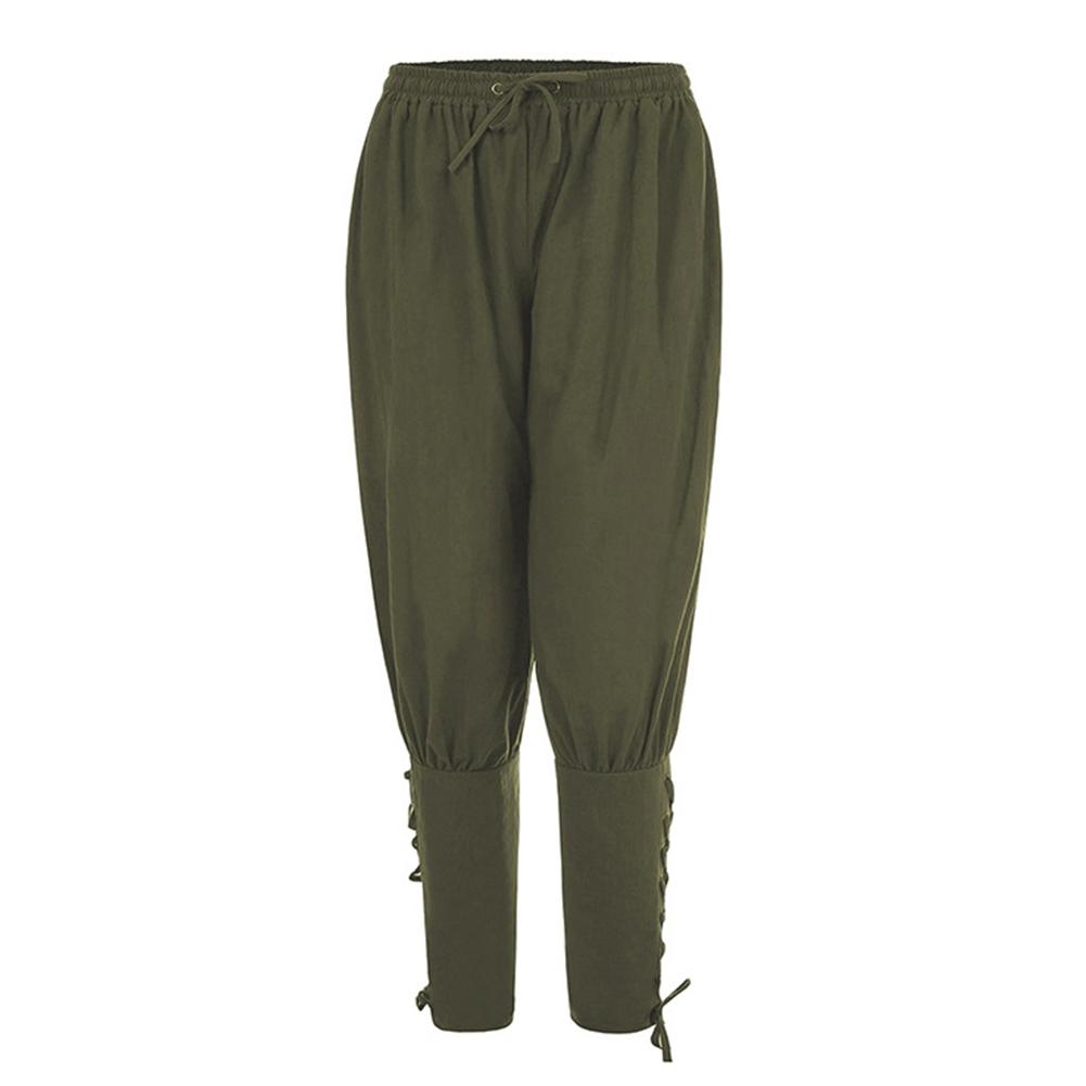Men Summer Casual Pants Trousers Quick-drying Sports Pants green_XXXL