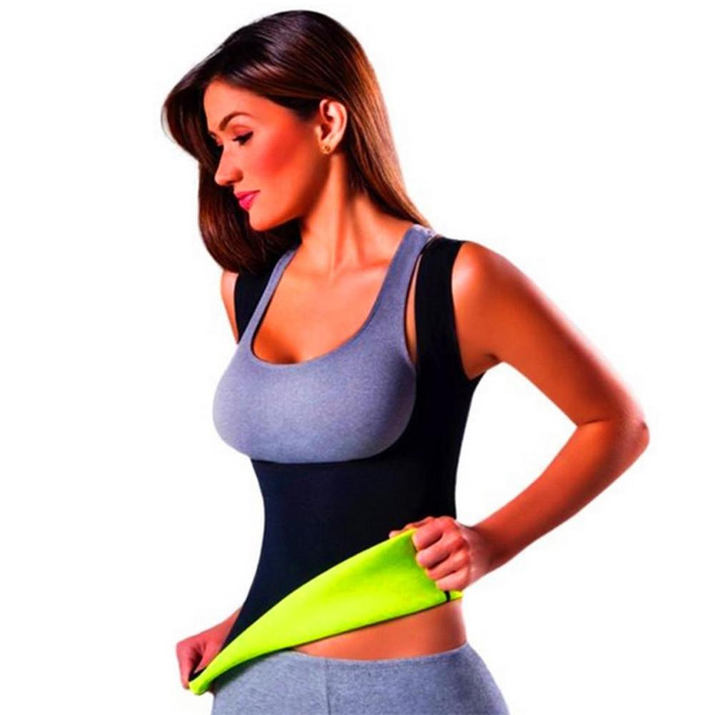 Fat Burning Breast Care Body Sculpting Clothing Abdomen Fitness Yoga Waistcoat Black_XXL