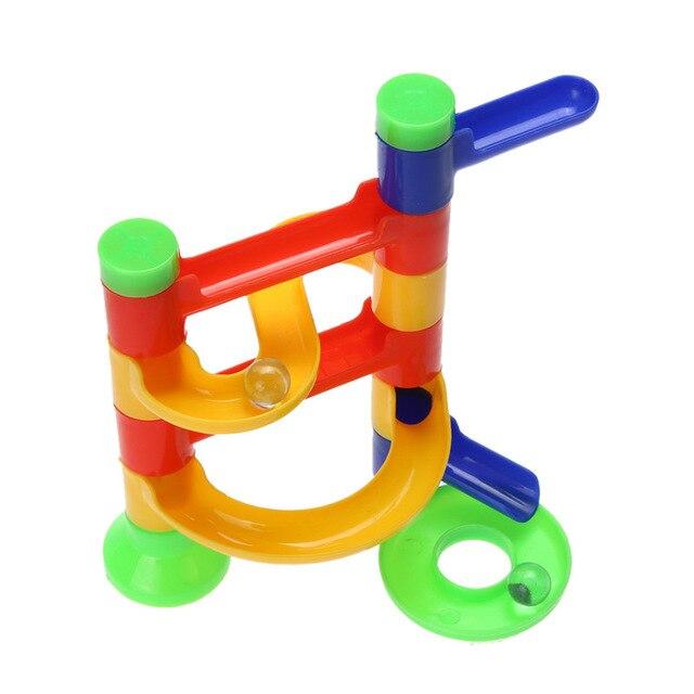 DIY Baby Kids Intelligence Orbit Ball Toy Marble Race Run Maze Balls Track Construction Building Bricks Children Educational Toy