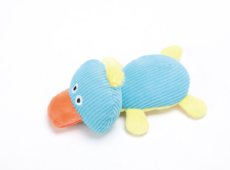 Cartoon Plush Animal Sound Chew Teeth Grinding Toy for Pet Dog