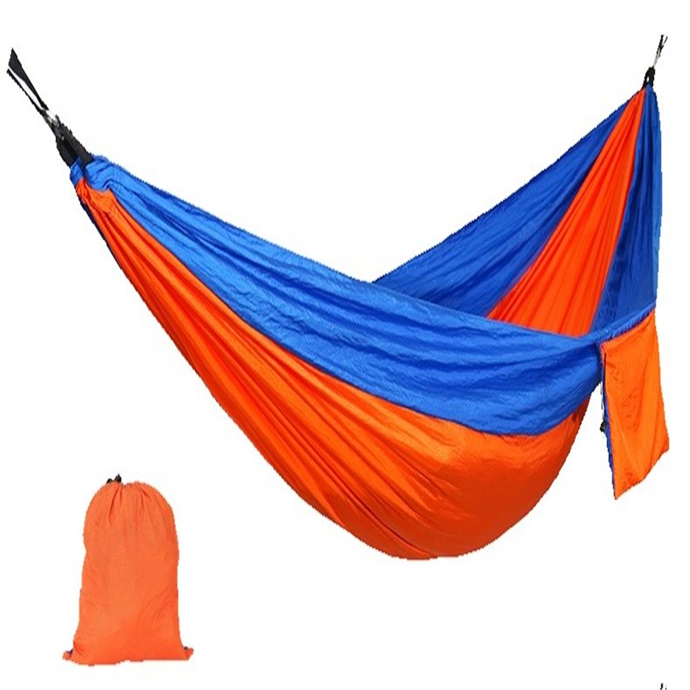 210t Nylon Fabric Outdoor Camping Hammock 2 Color Single Double Ultra-light Portable Swing Bed