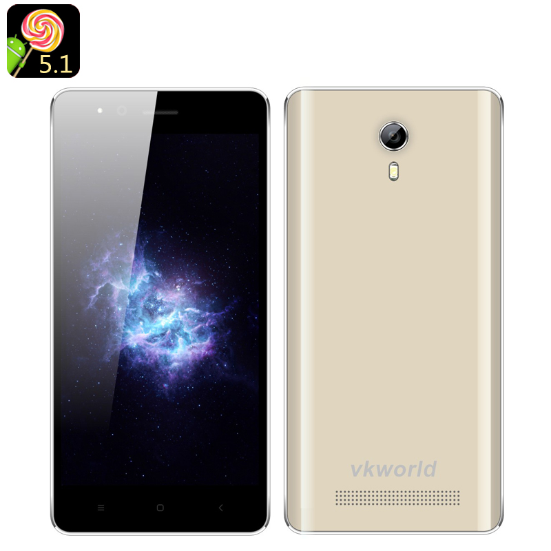 VKWorld F1 Android 5.1 Smartphone (Gold)