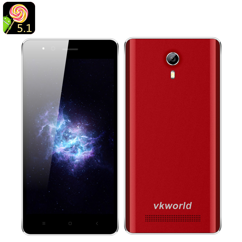 VKWorld F1 Android 5.1 Smartphone (Red)