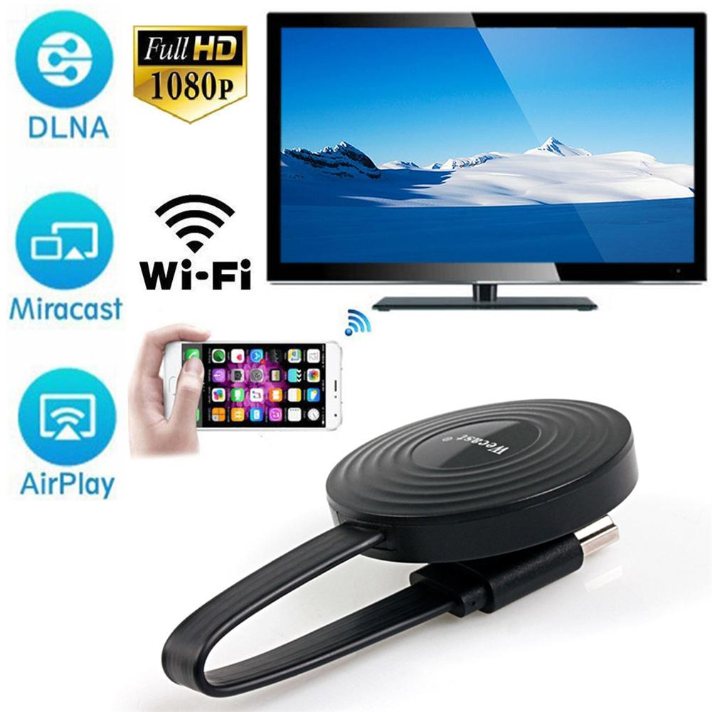 For Miracast/Airplay Mirroring/Youtube RK3036 Airplay Phone Wireless Display Mirroring Device WiFi HDMI TV Dongle Support DLNA black