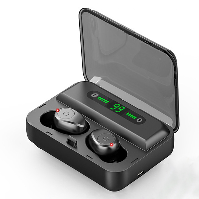 Bluetooth Earphone 5.0 TWS Wireless Headphones Noise Canceling Stereo Earbuds Wireless Bluetooth Headset with Mic  black