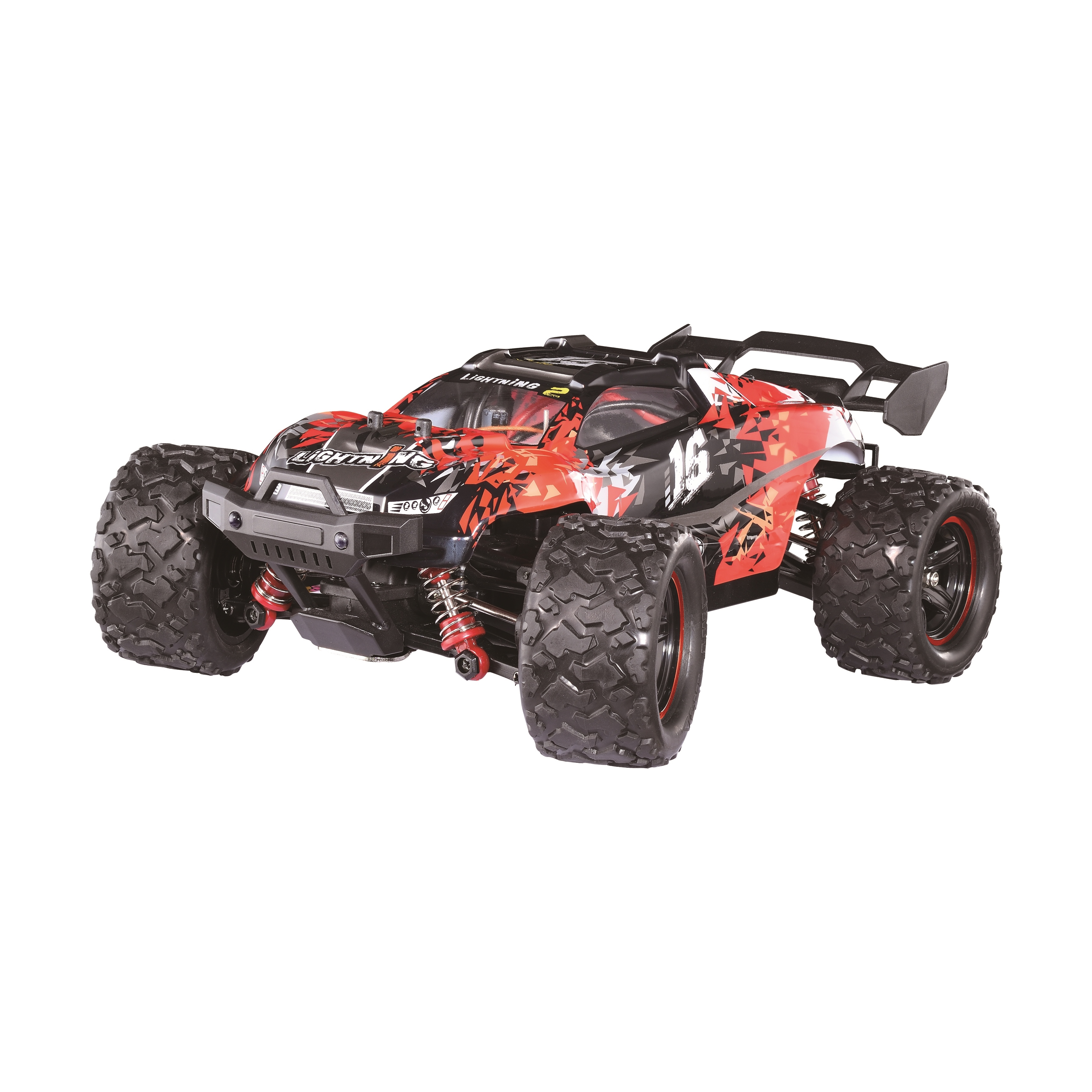 HS 18421 18422 18423 1/18 2.4G Alloy Brushless Off Road High Speed RC Car Vehicle Models Full Proportional Control Red 2 battery