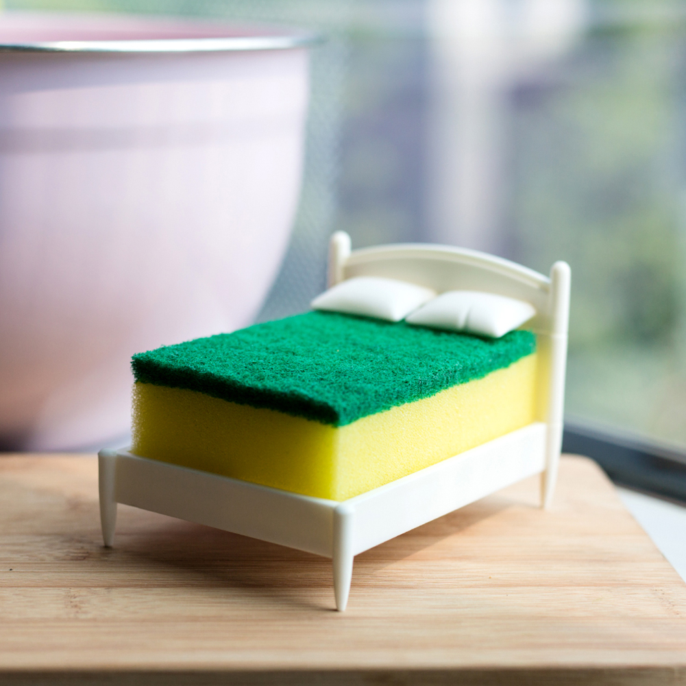 Sponge Holder Storage Rack for Kitchen Toilet Bathroom As shown