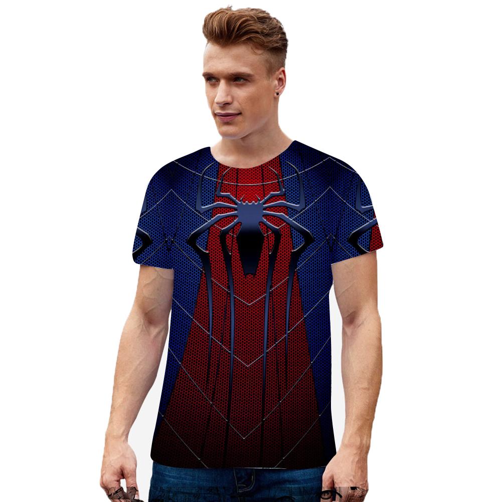 Fashion Cool Spiderman 3D Printing Summer Casual Short Sleeve T-shirt for Men Women X_XXL