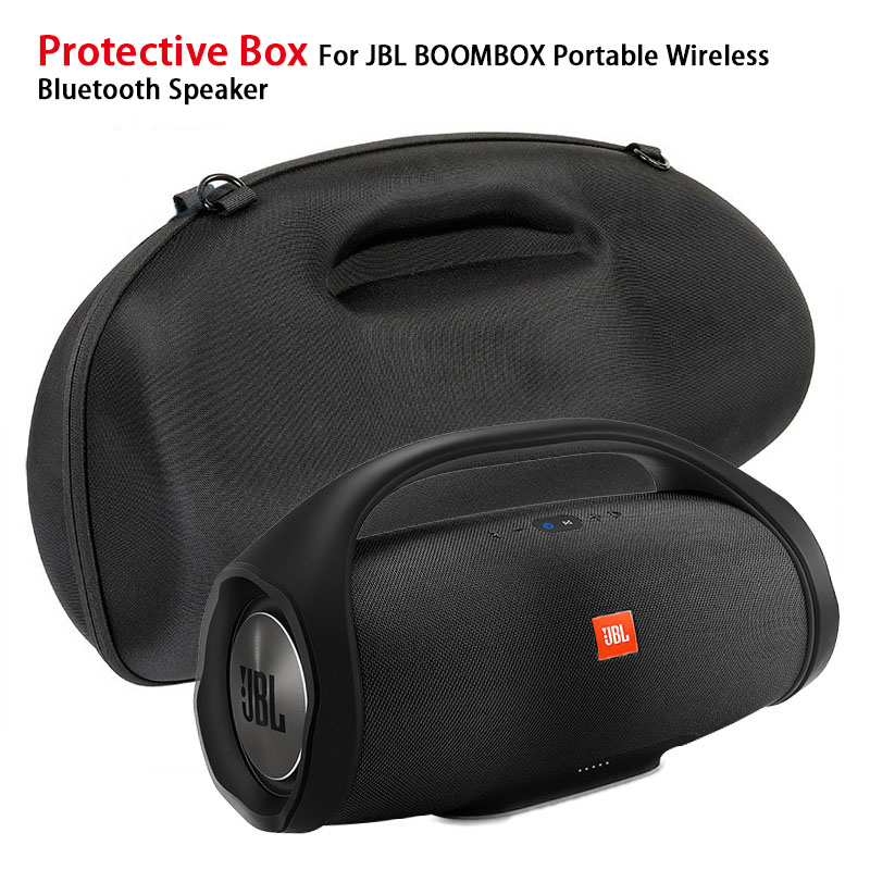 Protective Box For JBL Boombox Portable Wireless Bluetooth Speaker Storage Pouch Bag Travel Carrying EVA Case black