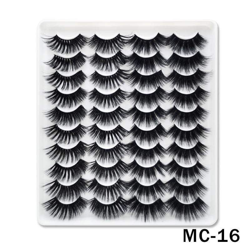 6D Mink False Eyelashes Handmade Extension Beauty Makeup False Eyelashes MC-16