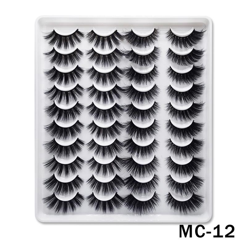 6D Mink False Eyelashes Handmade Extension Beauty Makeup False Eyelashes MC-12