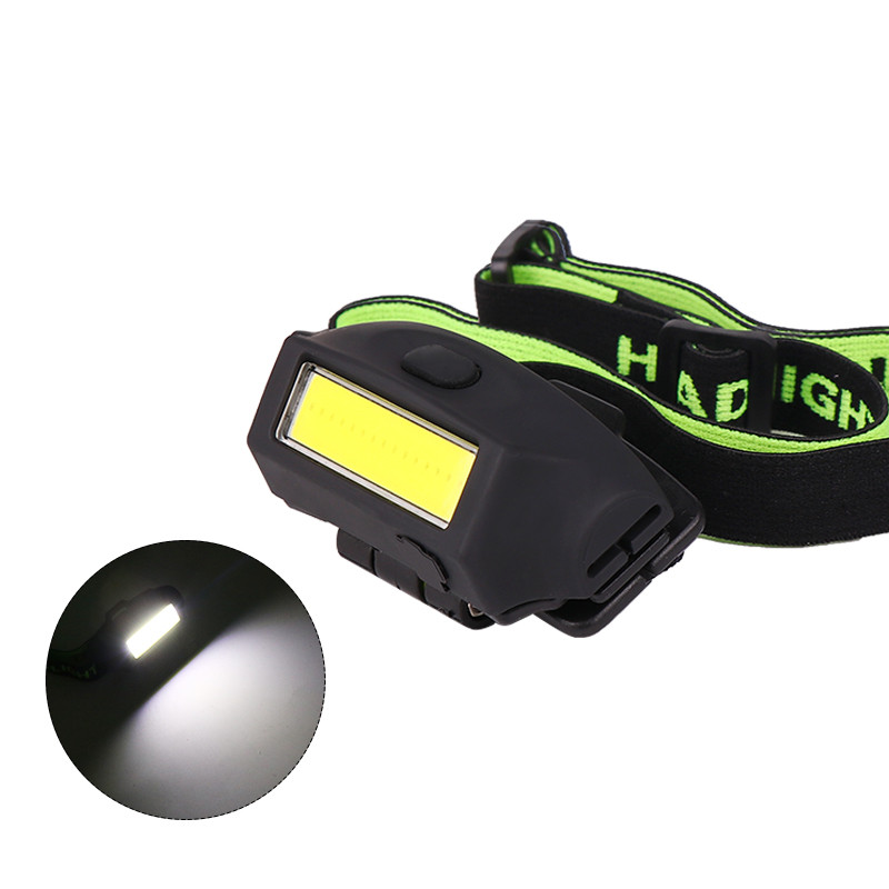 Mini COB LED Headlamp USB Charging Head Flashlight for Outdoor Camping black_Model 2050