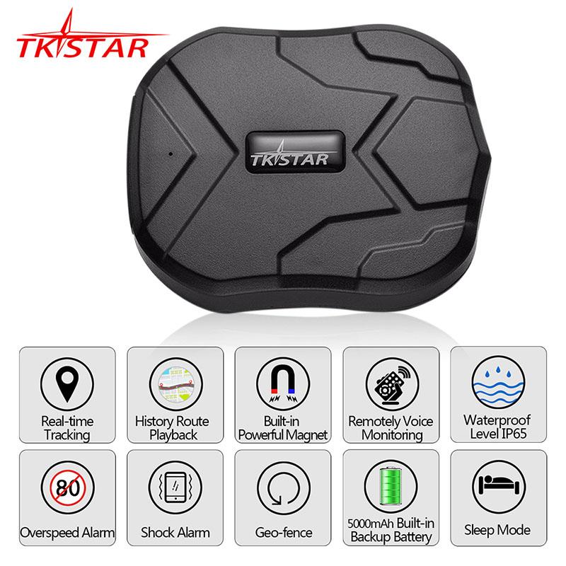 GPS Tracker Car 5000mAh 90 Days Standby 2G Vehicle Tracker GPS Locator Waterproof Magnet Voice Monitor Free Web APP black