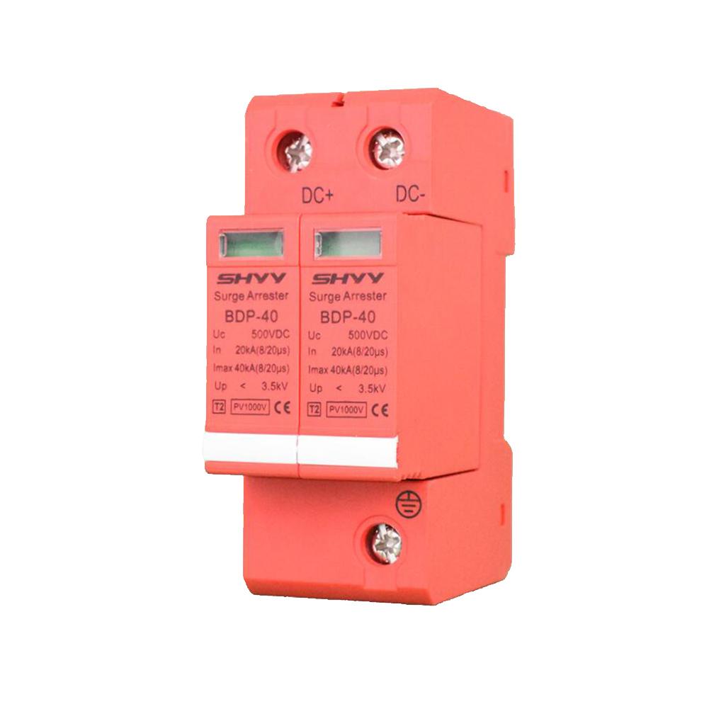 1000V Photovoltaic Surge Protector DC Arrester 500V