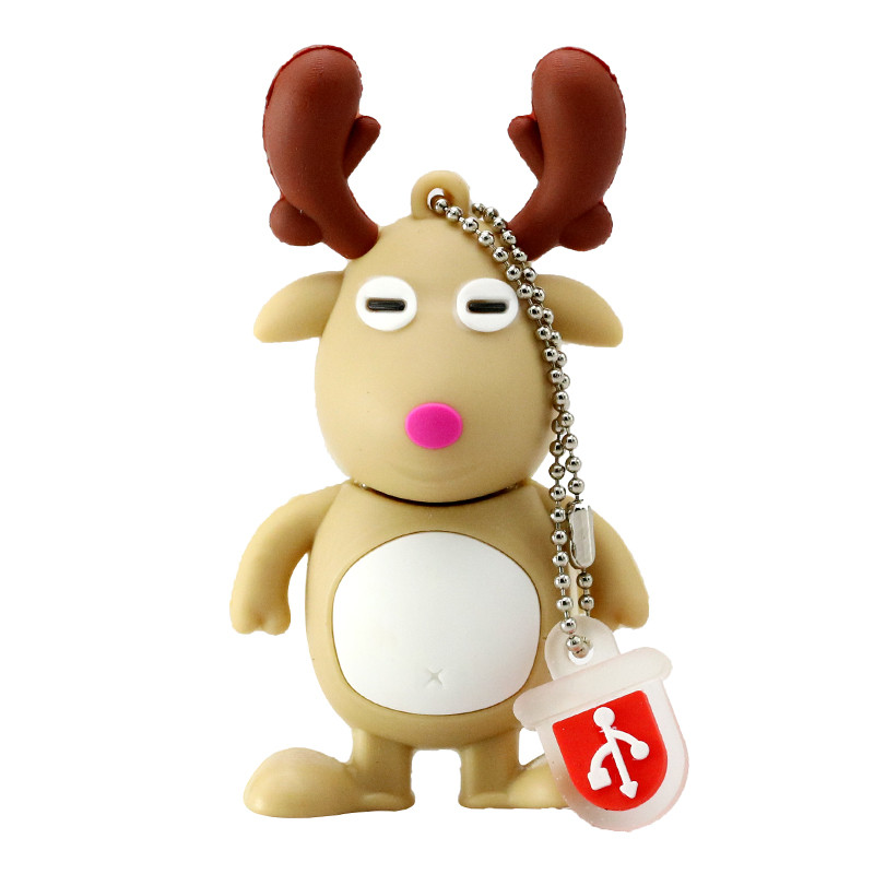 Christmas Deer Design USB Flash Drive 8G
