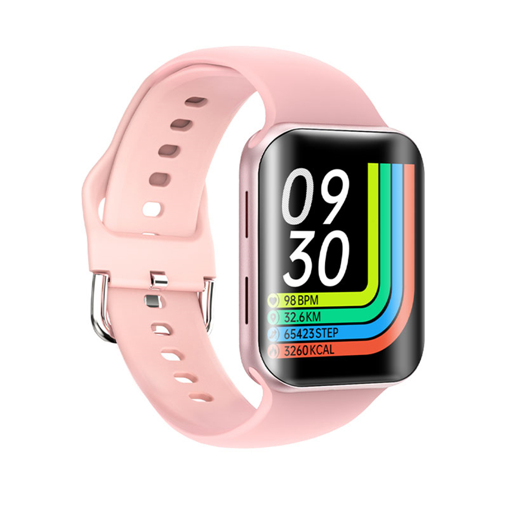 T68 Smart Watch Bluetooth Call Sleep Blodd Pressure Monitor Heart Rate Monitor Remote Control Smartwatch Pink