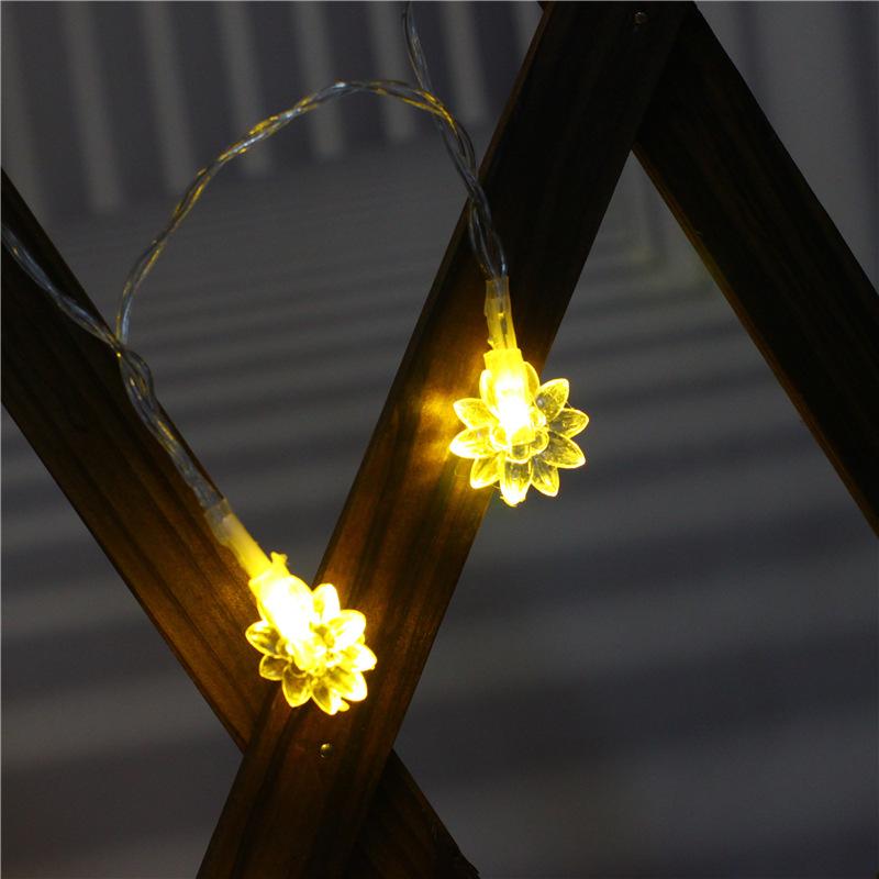 LED Sunflower String Light Battery Powered Lamp for Home Festival Decor warm light