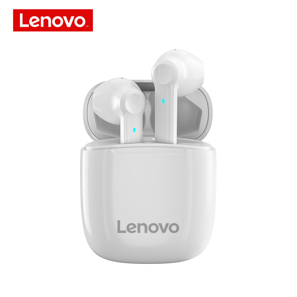Original LENOVO XT89 Tws Wireless Bluetooth Headset Waterproof Touch Control Hifi Earphones White