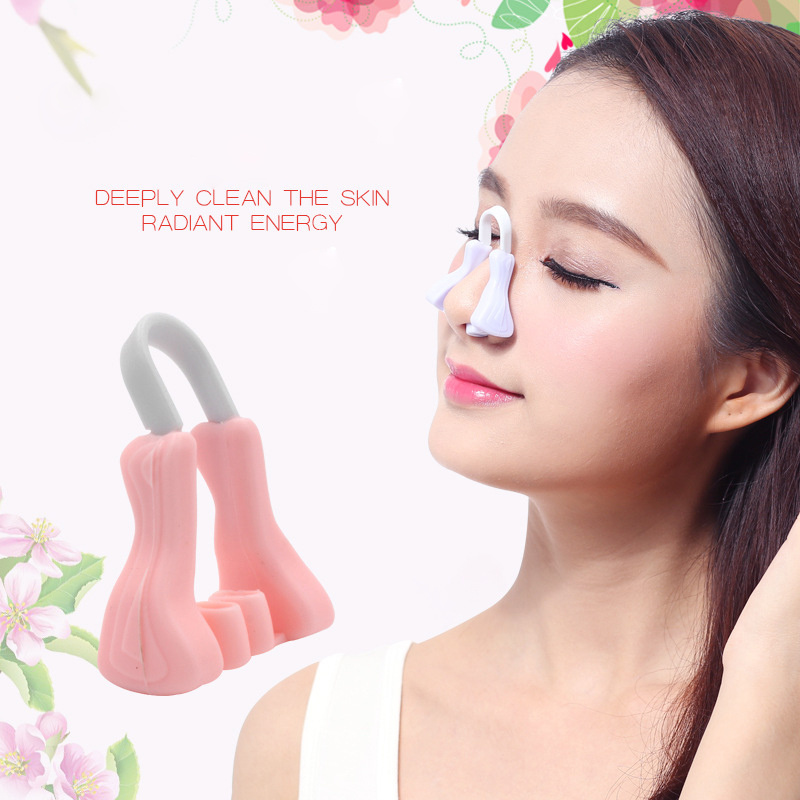 Correction Nose Nose Massager Safe Nose Up Clip Lifting Shaping Shapers Silicon Smoothing Beauty Corrector Nose Massage Beauty Tool pink