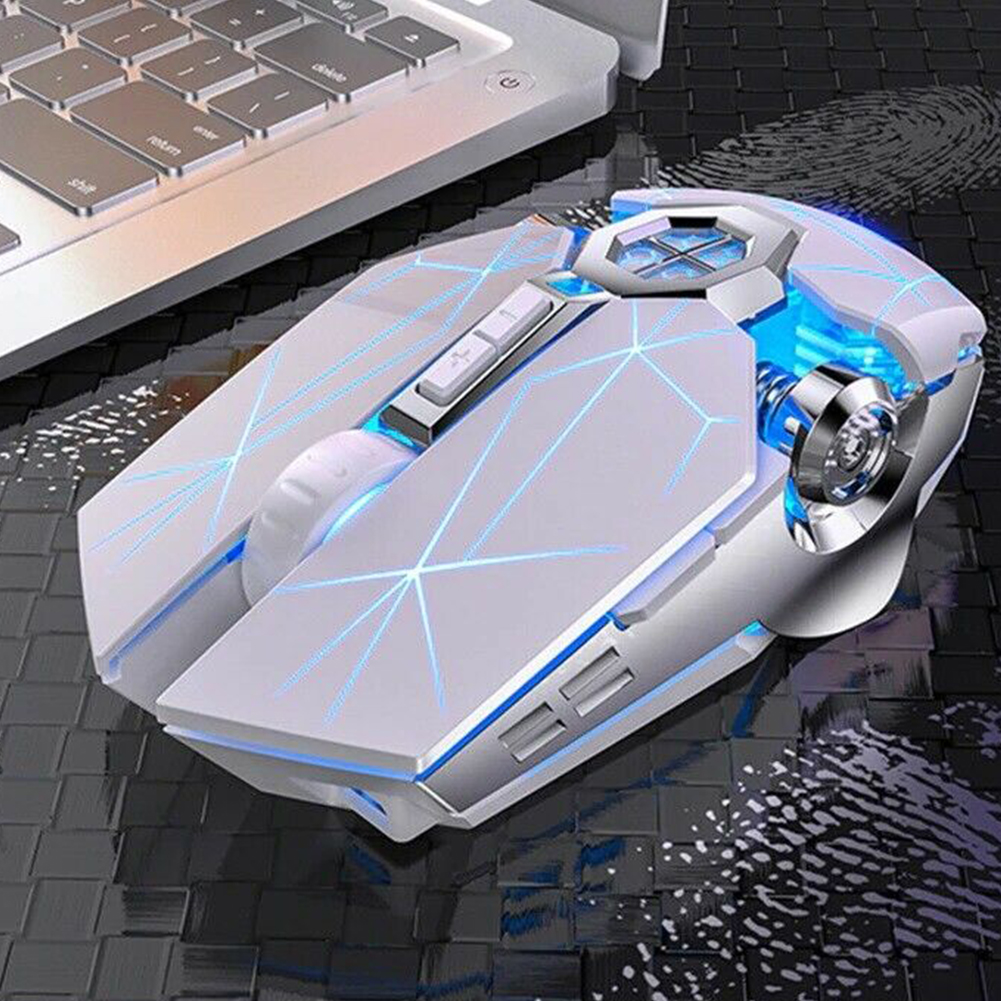 Wireless Optical 2.4g Usb Gaming  Mouse 1600dpi 7 Color Led Backlit Rechargeable Silent Mice For Pc Laptop White colorful charging type