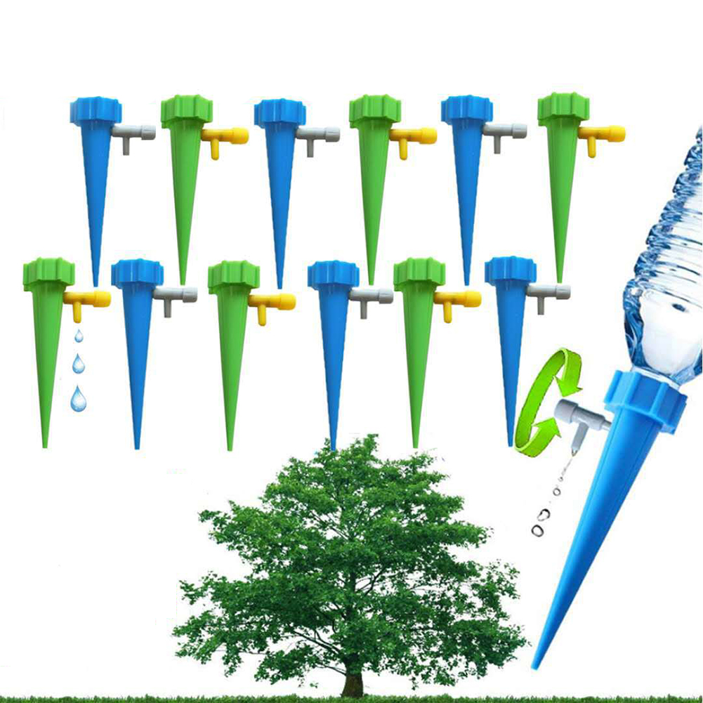 [Indonesia Direct] 12PCS Home Automatic Plant Watering Tool Drip Irrigation System Gardening Accessories Decoration  12PCS