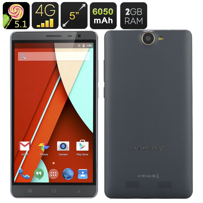 VKWorld VK6050s Android 5.1 Smartphone (Gray)