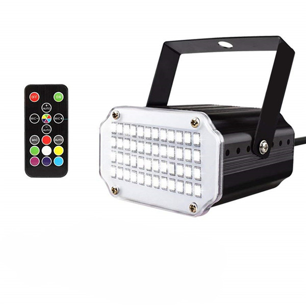 Color LED Sound Activated Disco Light