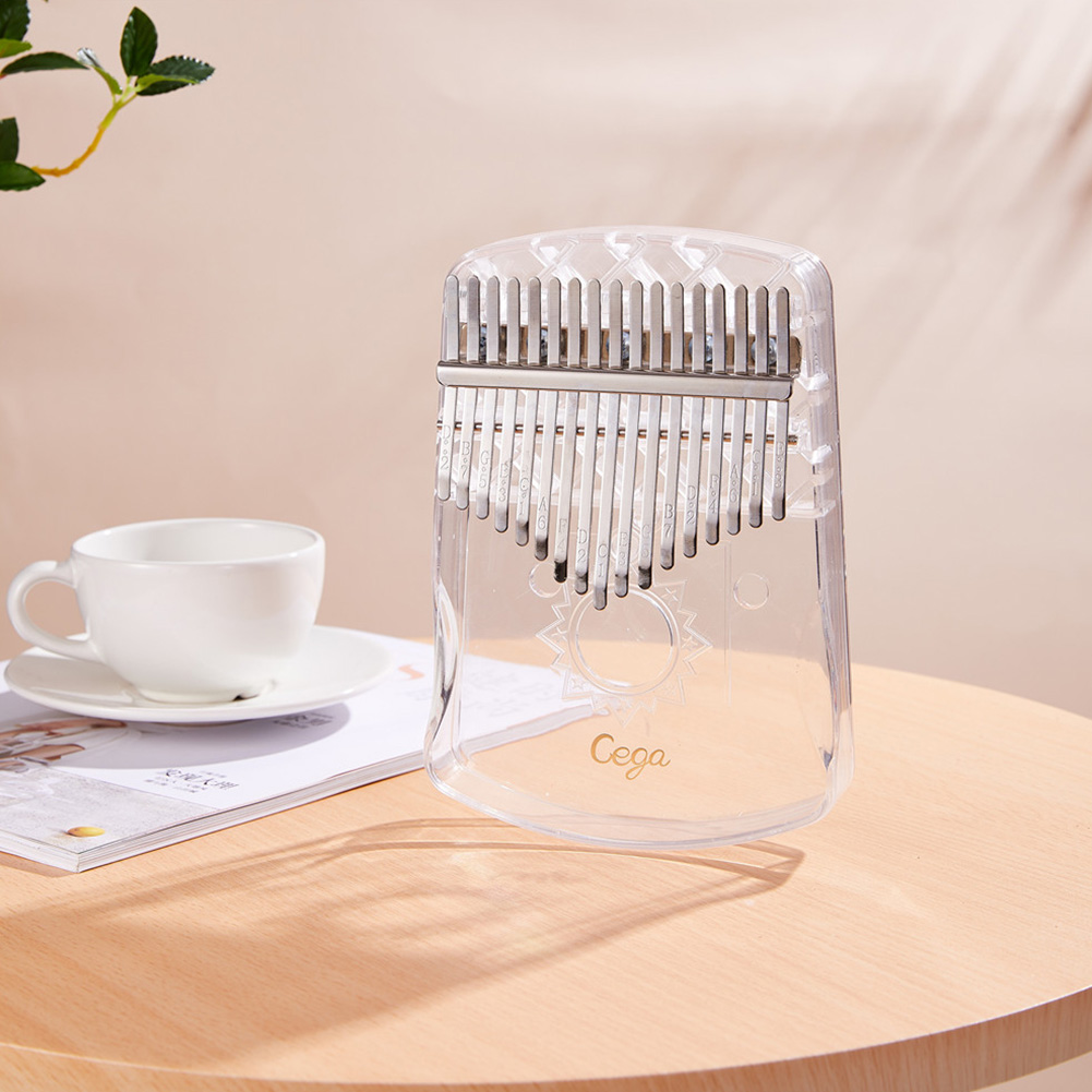 17 Keys Kalimba Thumb Piano Portable Transparent ABS Mbira Keyboard Finger Musical Instrument Transparent_Transparent