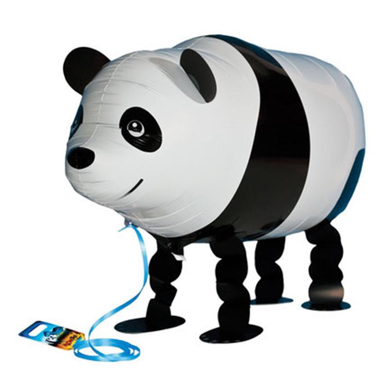 [EU Direct] 1Pcs Cute Cartoon Animal Pet Walking Foil Balloons Wedding Birthday Party Decorations Supplies Kids Toys Walk panda YT-011