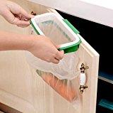 [EU Direct] Hanging Trash Garbage Bag Holder for Kitchen Cupboard Green and White