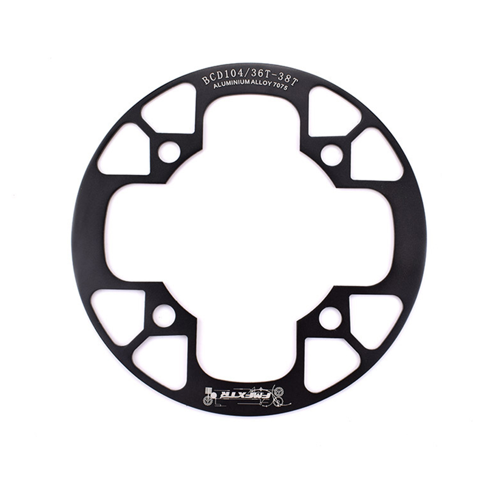 104bcd MTB Bicycle Chain Wheel Protection Cover Bicycle Protection Plate Guard Bike Crankset Full Protection Plate 36-38T black