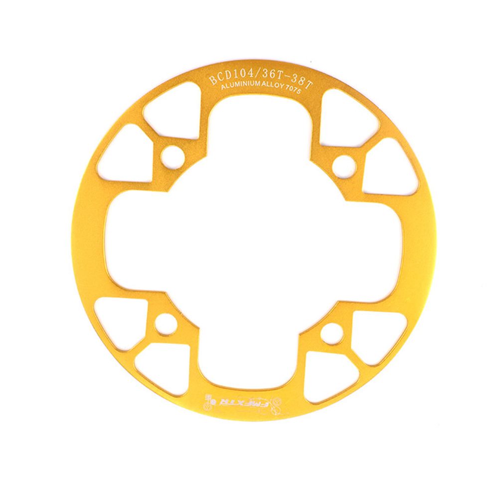 104bcd MTB Bicycle Chain Wheel Protection Cover Bicycle Protection Plate Guard Bike Crankset Full Protection Plate 36-38T gold