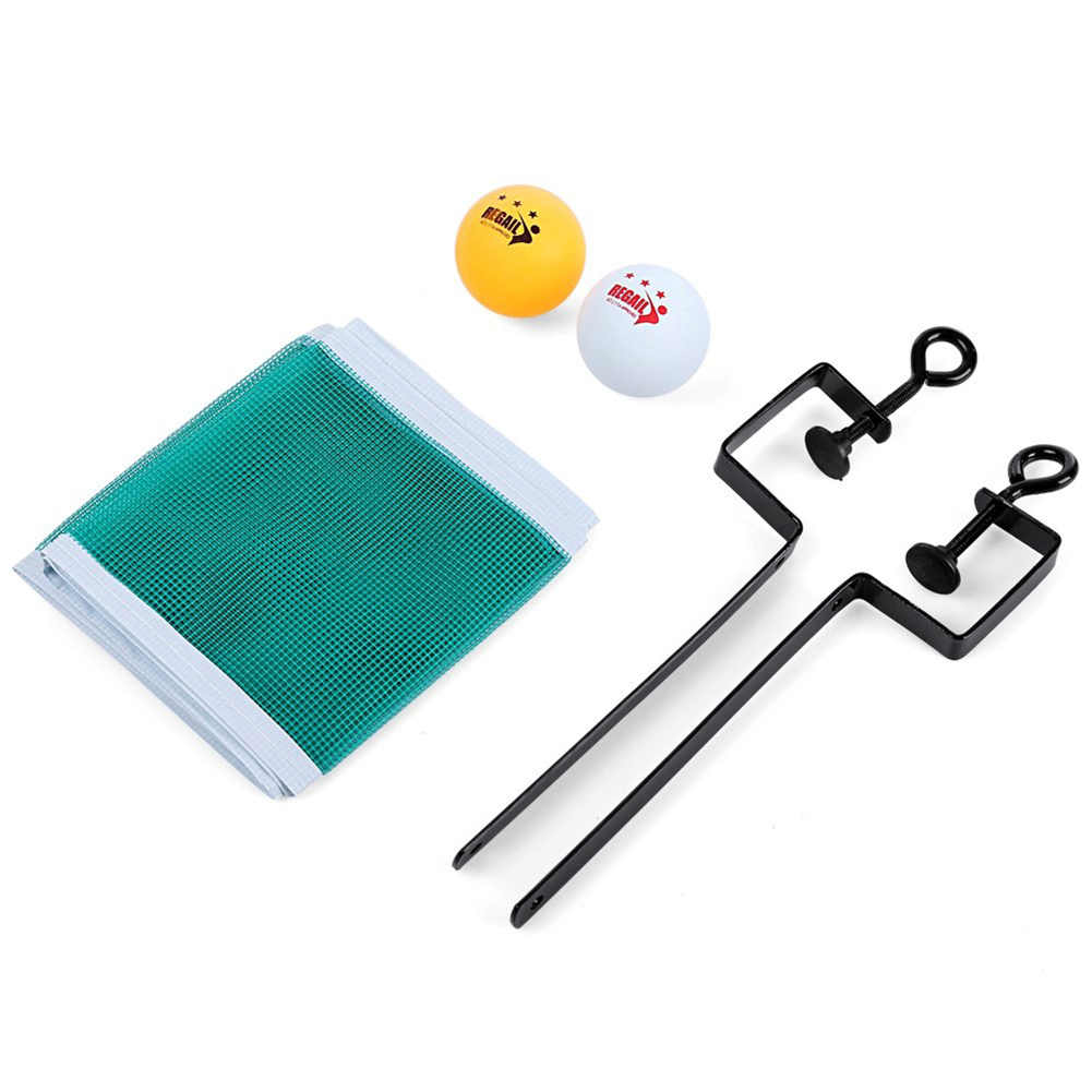Portable Table Tennis Set Net Ping Pong Ball Fix Equipment Table Tennis Ball Set Training Accessories As shown