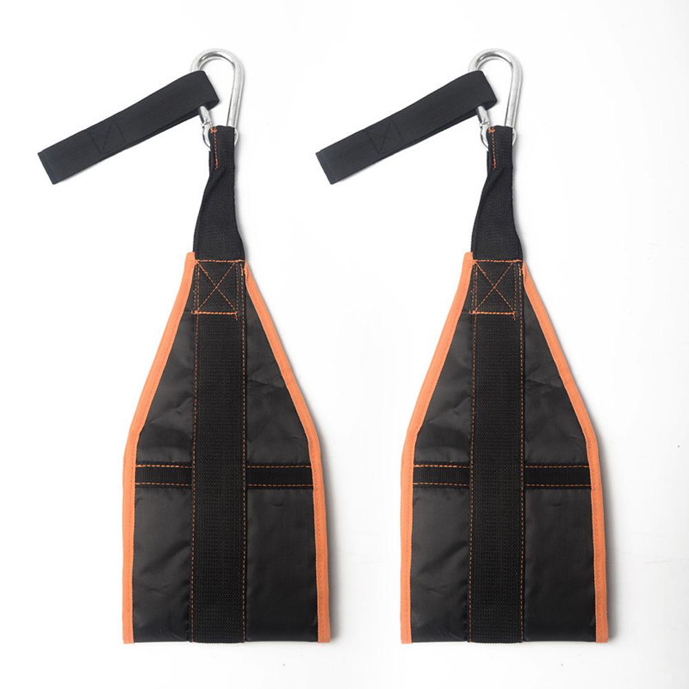 Home Fitness AB Sling Straps Abdominal Hanging Belt Chin Up Sit Up Bar Pullup Muscle Training Support Belt Orange black