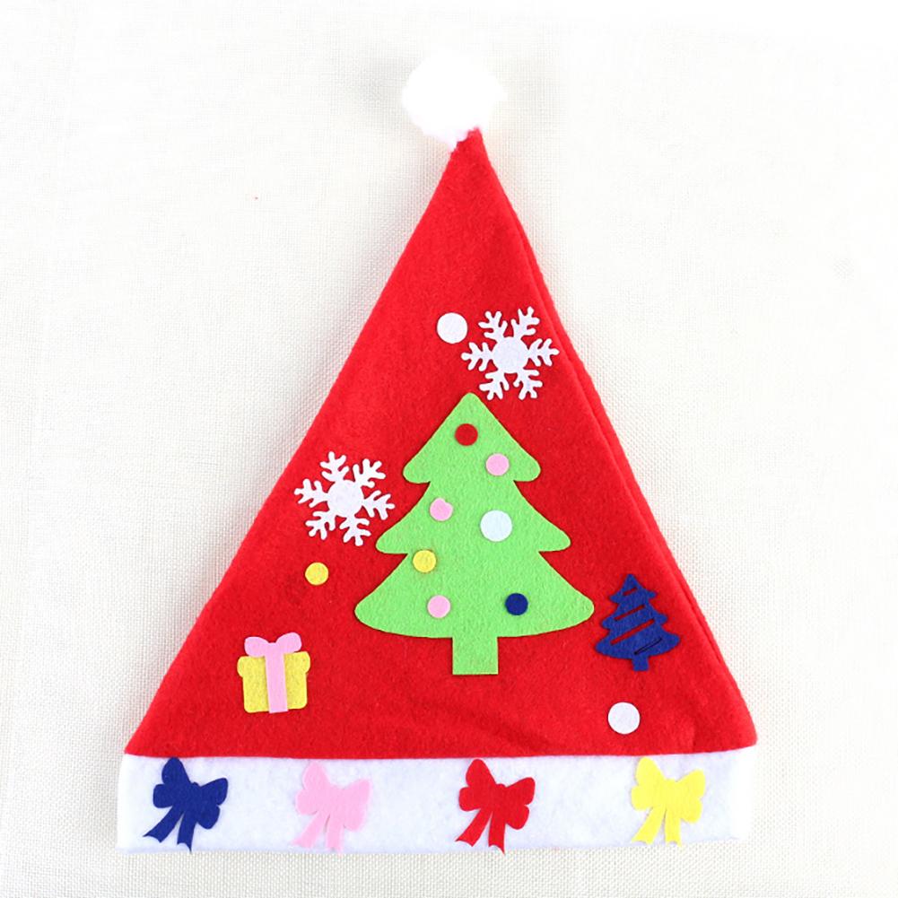 Kids DIY Christmas Hat Children's Handmade Material Accessories Set Toy Christmas Gift Christmas hat - tree