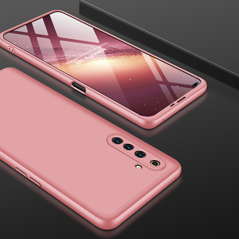 For OPPO Realme 6 Pro Cellphone Case PC Full Protection Anti-Scratch Mobile Phone Shell Cover Rose gold