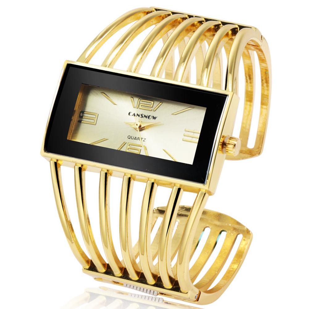 Women Creative Waterproof Alloy Quartz Rectangular Dial Fashion Bracelet Watch Wristwatch 7#