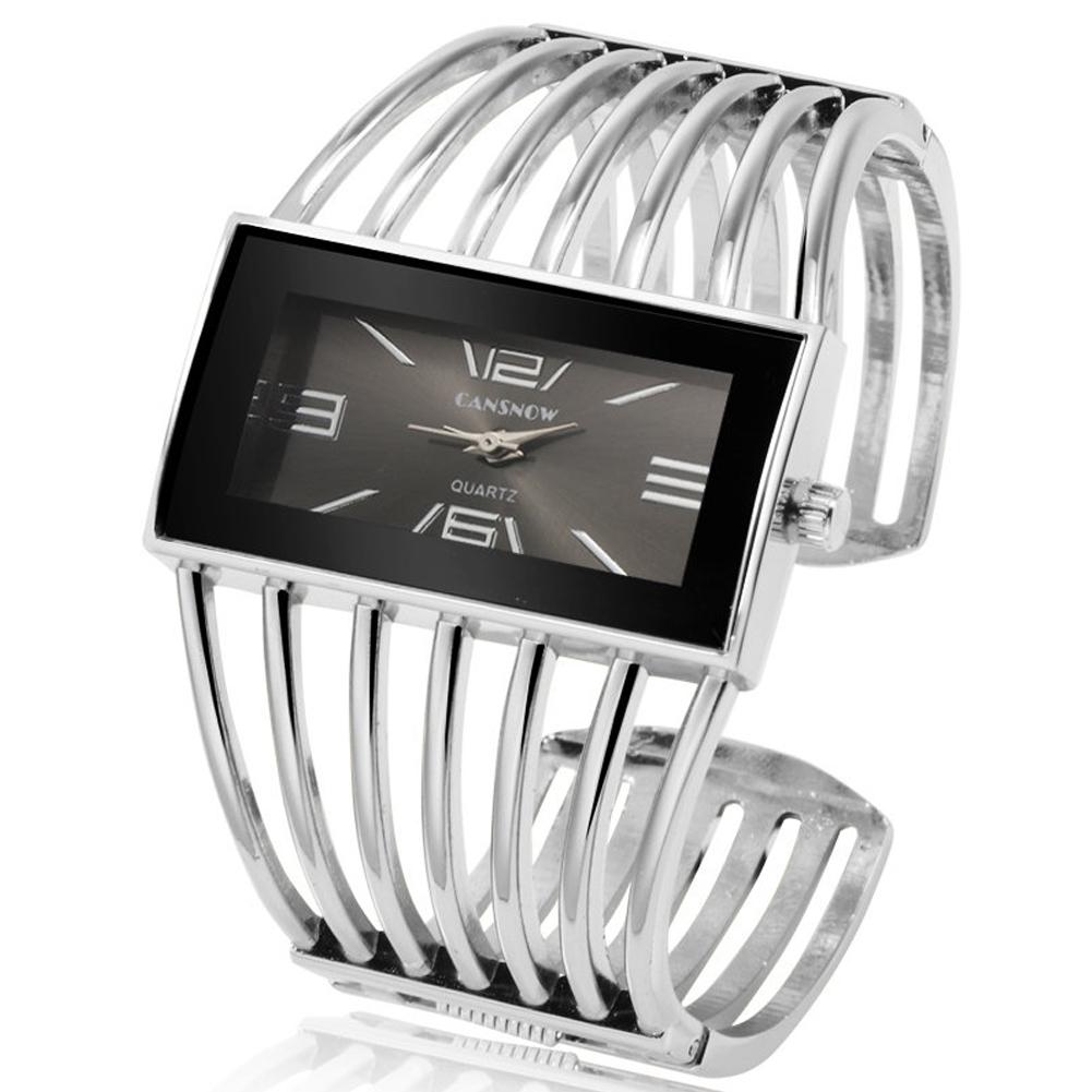 Women Creative Waterproof Alloy Quartz Rectangular Dial Fashion Bracelet Watch Wristwatch 6#