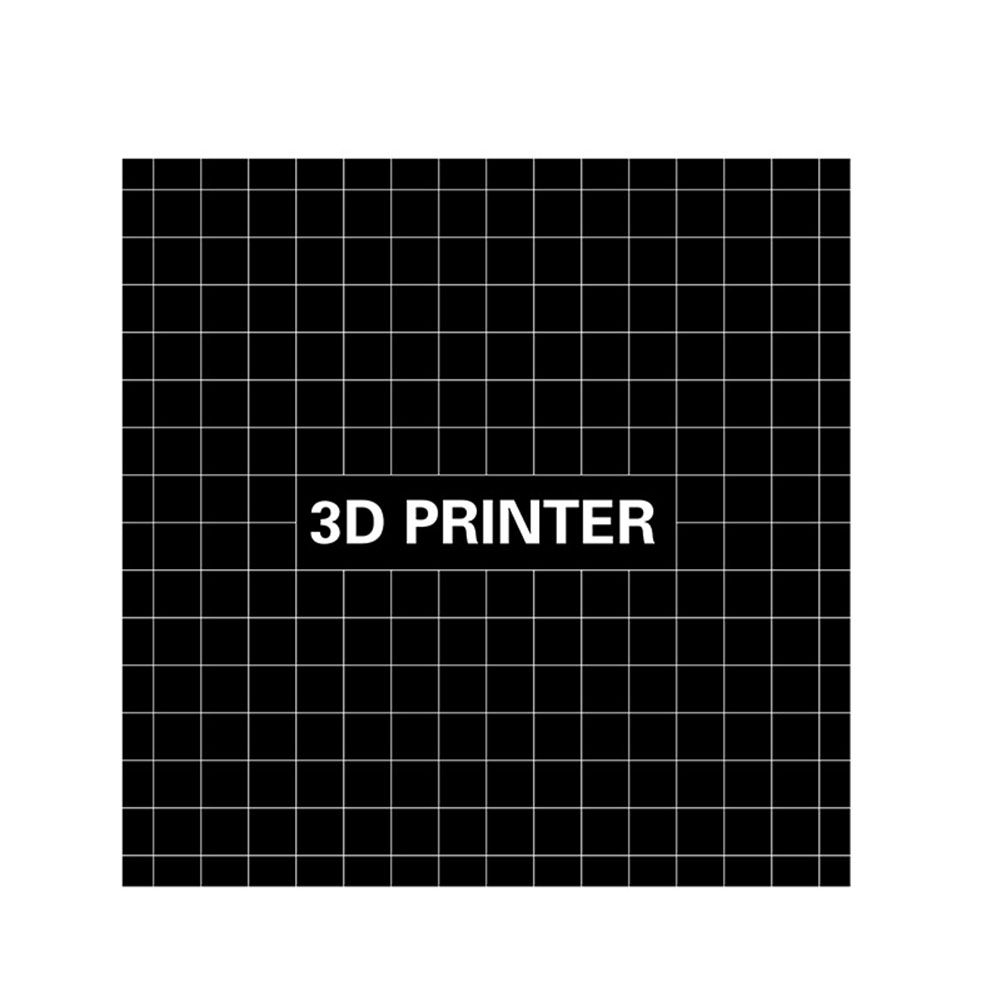 220*220mm High Temperature 3D Print Build Surface Platform with Washable Glue Stick Sticker for Wanhao i3 Anet A8 A6 Ender-3 3D Printer Black 220*220mm