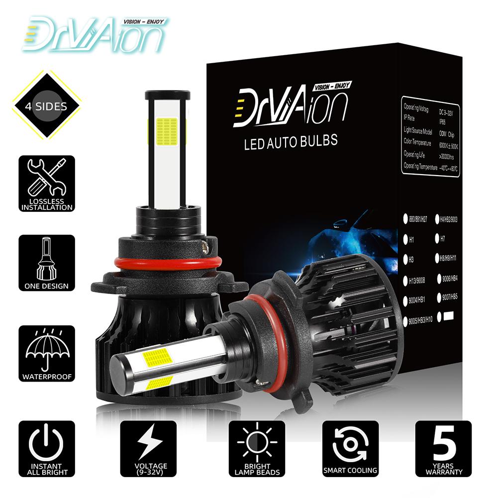 Mini LED Headlight Bulb 100W 10000LM H1 H7 H8/9/11 H4/HB2/9003 9005/HB3 9006/HB4 Replace LED Headlights