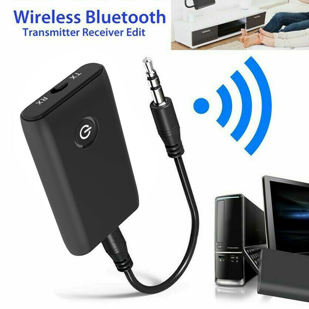 B10S 2-in-1 Wireless Transmitter Receiver 3.5mm AUX HiFi Music Audio Adapter Bluetooth5.0 Home/Car Stereo Device black