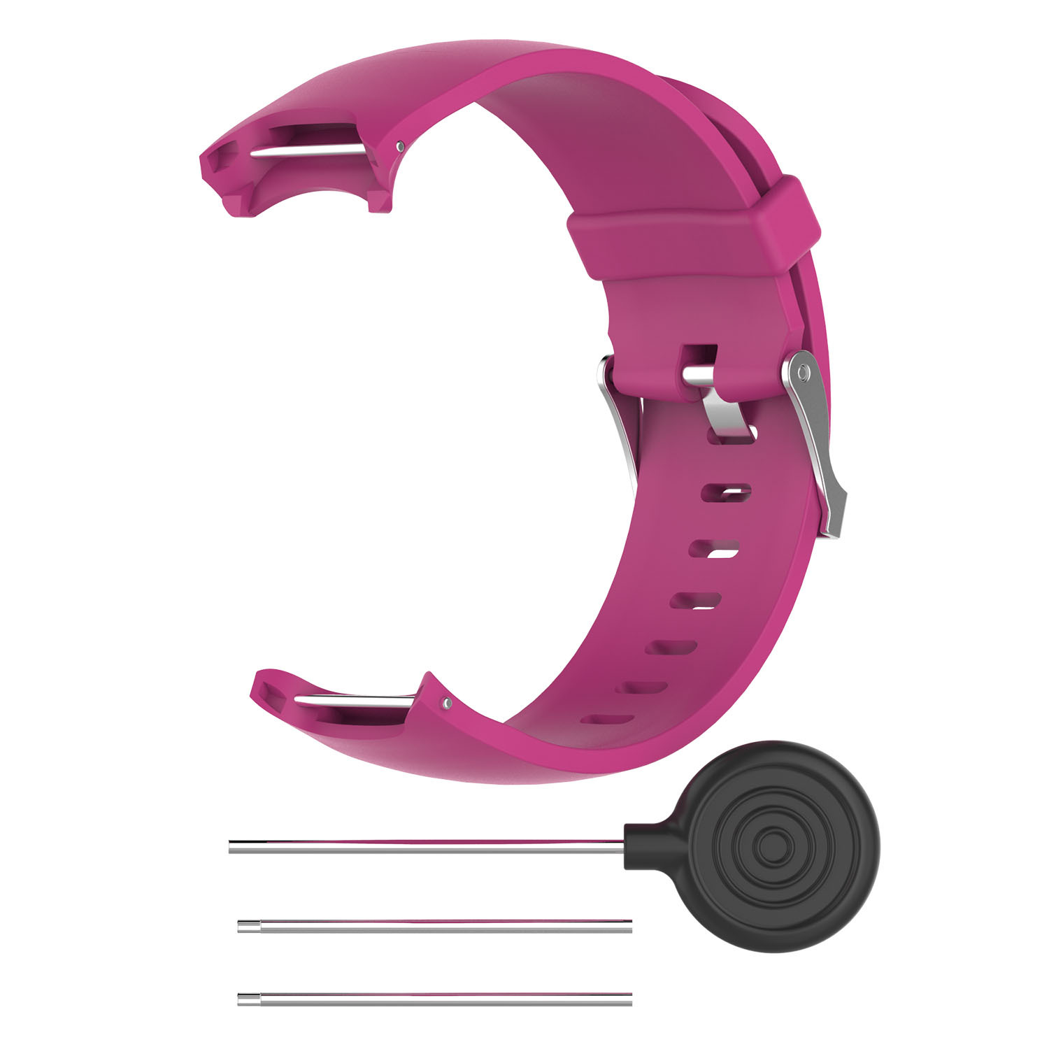 Wrist Band for Garmin Approach S3 GPS Watch Elegant Silicone Watch Strap with Tool Individualized Adjustment rose red