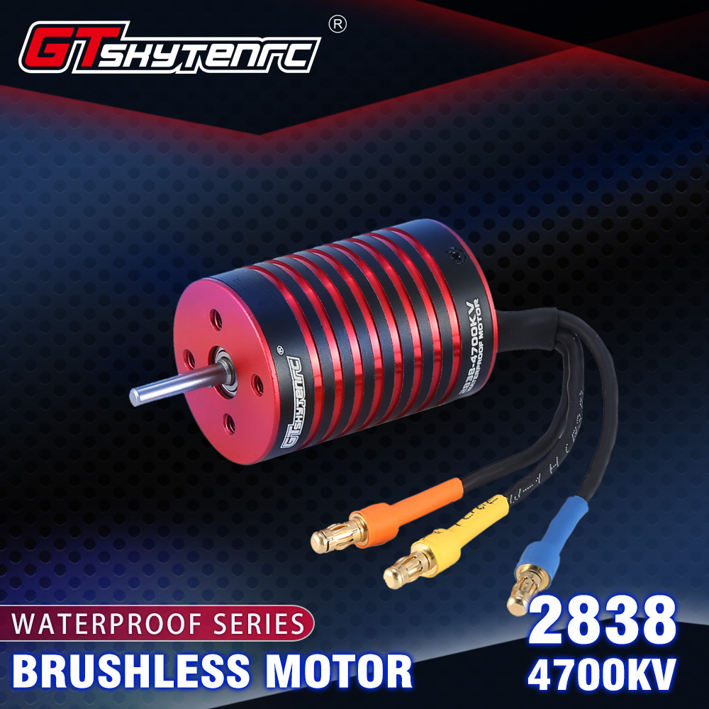 GTSKYTENRC 2838 KK Series Brushless Waterproof Motor for 2s/3s 1/14 1/16 Rc Car 4700KV