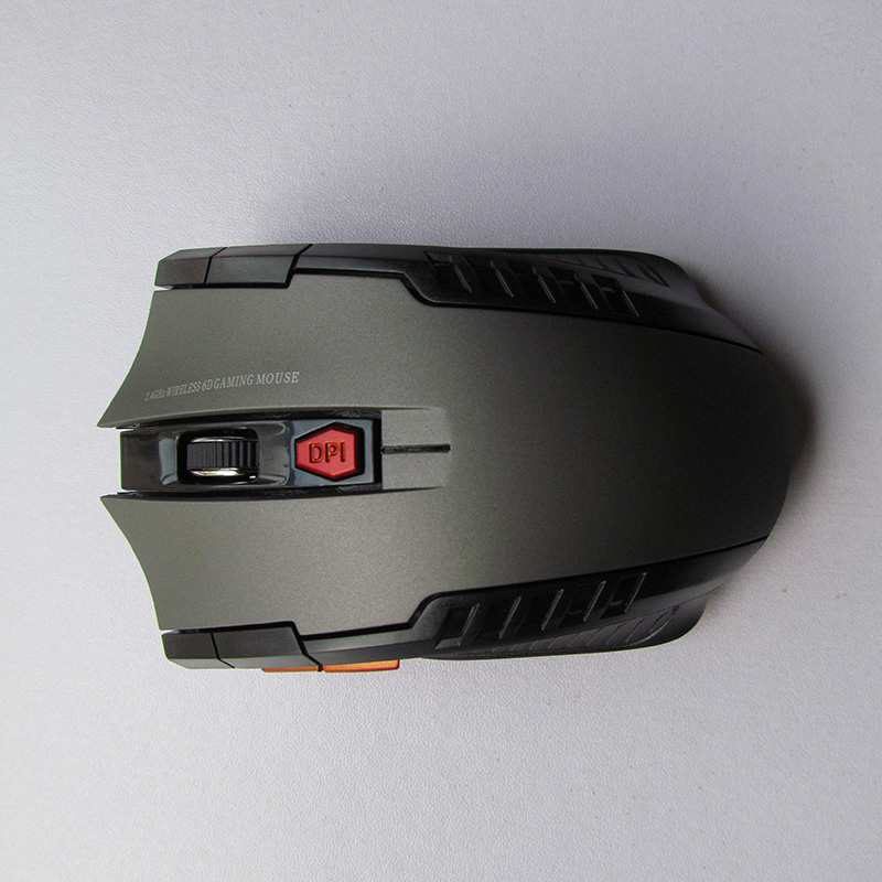 Wireless 2.4GHz Optical Mouse with USB Receiver for Video Game Console for Laptop gray