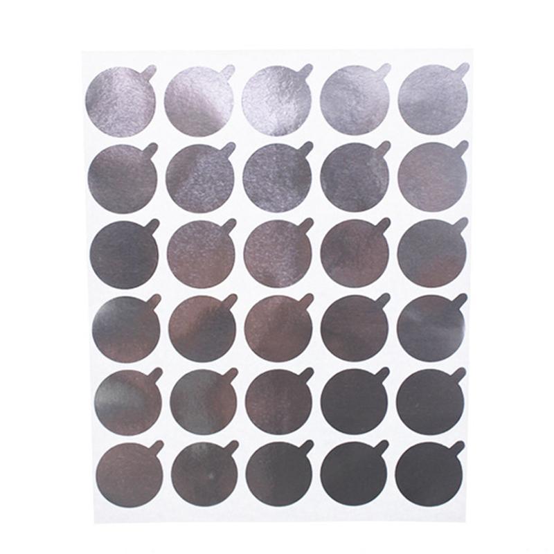 Eyelash Extension Tool Aluminum Foil Glue Plate Pads Stickers 10 Sheet/Pack Aluminum Foil Glue Sticker